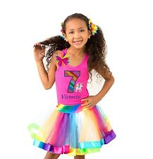 Bubblegum Divas 7th Birthday Unicorn Shirt Rainbow Outfit Personalized Gift 7