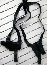 Armadillo Miami Vice Black Leather Horizontal Shoulder Holster for 1911 (P4)