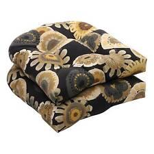 Black Floral Patio Furniture Cushions Pads Ebay