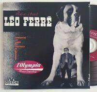 """pour la 1ère fois en CD : LEO FERRE 1955 """"RÉCITAL A L'OLYMPIA (premier concert)"""""""
