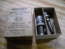 vintage Herter's sizing & decaping die in antique box 45/70 Gov.