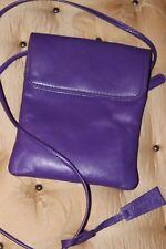 Taurus extravagante de cuero púrpura Genuino Suave Cuerpo transversal pequeño bolso de hombro