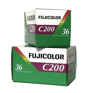 2x Rollos - Carrete fotos Fujicolor C200 36Exp película negativo color 35mm
