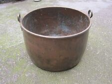 MASSIVE ANTIQUE SOLID COPPER COOKING STATELY HOME POT HEAVY GAUGE PAN CAULDRON