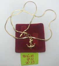 Gold Authentic 18k gold necklace with pendant 18 inches chain