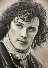 ACEO 1/1 Original OUTLANDER Jamie Fraser Oil Pastel Pencil Sketch Card Art COA