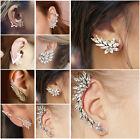 Fashion Crystal Rhinestone Wedding Jewelry Women Ear Stud Earrings Dangle Chain