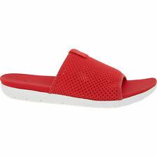 £50 FITFLOP AIRMESH Red Vegan Friendly Anatomicush Comfy Pool Slide Sandals UK 7
