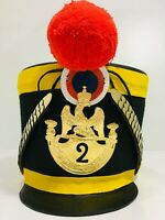 HALLOWEEN French Napoleonic Shako Helmet with Red Pompoms by KingsArmor