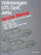 Volkswagen GTI Golf-Jetta Service Manual, 1985-1992 by Bentley (1990, Paperback)