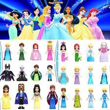 24Pcs/Set Girls Friends Princess Belle Elsa Cinderella Figure Building Block Toy