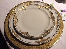 Service de Table Rare Bernardaud  1960 Coquille dorée Porcelaine Limoges  Plate