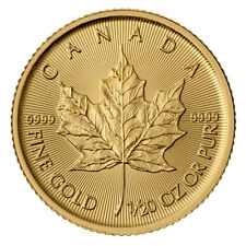 1/20 Oz Maple Leaf Gold 2017 twentieth Oz Gold coin Royal Canadian Mint 9999