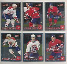 1995-96 Bowman FOIL Montreal Canadiens Team Set (6) Saku Koivu Etc.