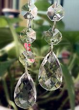 30pcs/lot transparent Acrylic crystal teardrop bead garland wedding party decor