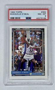 1992-93 Topps Shaquille O'Neal RC Rookie Card #362 Orlando Magic PSA 8 Near Mint