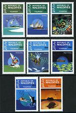 Maldives 1023-1030, MI 1055-1062, MNH. Tourism.Resorts,Cruising,Snorkelling,1984