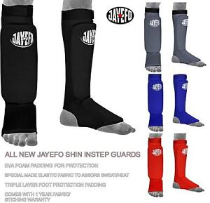 MMA BOXING SHIN INSTEP GUARD FOAM PADDED KICKING MUAY THAI TRAINING STRIKING EVA