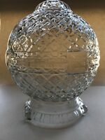 "Vintage Antique Glass Art Deco Or MCM Glass Lamp Base - 9.5"" Tall - Very Unique"