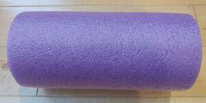 """Yes4All Premium Medium Density Round PE Foam Roller Purple 12"""" EUC"""