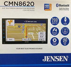 "NEW Jensen CMN8620 2-DIN 6.8"" Multimedia Car Stereo w/ Bluetooth & Navigation"