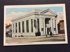 THE MILLVILLE NATIONAL BANK Millville, New Jersey Postcard Circa 1930's