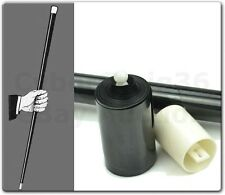 VANISHING DISAPPEARING BLACK CANE STAGE TRICK MAGIC PROP OR USE AS FANCY DRESS