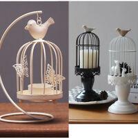 3 Types Home Iron Birdcage Candle Holder Retro Fancy Wedding Holy Church Decor