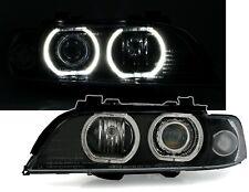 Scheinwerfer Angel Eyes BMW E39 Limo Touring Schwarz superhelle weiße LED Ringe