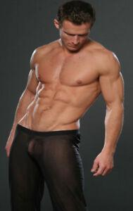 N2N Bodywear E5 2.00 Mens (see-thru) Sheer Pants BLACK
