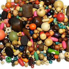 WL766f Assorted Size, Color & Shape 4mm - 20mm Wood Bead Mix 500-Grams
