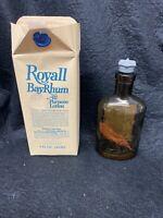 royall bay rhum Vintage Advertising Barbershop Shaving Original Packaging