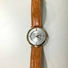 Kenneth Cole Women's KC2802 Orange Leather Quartz Watch with Silver Dial #454