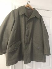 Swedish Vintage Military Wool Coat 1958 Green 3 Crown Army Jacket Xl