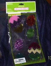 Window Gel Clings Large Easter Eggs & Small Gel Clings Decorations, Windows New