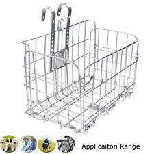 SILVER WIRE MESH FRONT/REAR FOLDING BIKE/BICYCLE SHOPPING EXTRA STORAGE BASKET