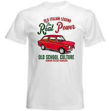 VINTAGE ITALIAN CAR FIAT 850-Nuova T-shirt di cotone
