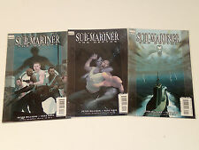 SUB-MARINER The DEPTHS, lot of 3 issues #1-3 (of 5)  Marvel Comics 2008 VF Namor