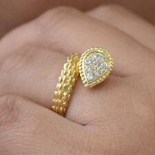 Snake 18K Yellow Gold Wedding Band Ring Natural Diamond Women's Day Fine Jewelry