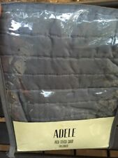 "Adele Pick-Stitch Full Queen Sham NWT Gray 21"" X 26"""