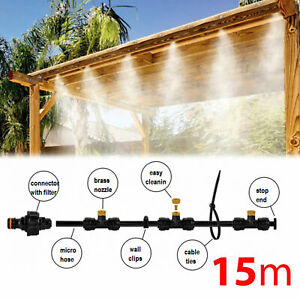 15 m - MISTING COOLING SYSTEM_Micro Drip Irrigation Garden Sprinkler Nozzle - UK