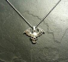 Skull Demon Wings Bat Skeleton Necklace Pendant Charm Metal Punk Rock Gift