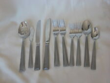 International Stainless INS503 Servers Knives Spoons Forks + Frost Bead Edge 10P