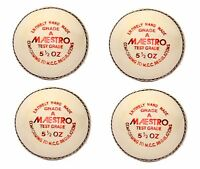 "4X CW ""MAESTRO WHITE"" HIGH Quality 4 Piece Cricket Ball -156 g + A Grade"