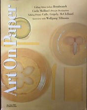 ART ON PAPER MAGAZINE MAY/JUNE 2001 *CARLO MOLLINO/WOLFGANG TILLMANS*