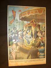 Retrocopertina Domenica del Corriere 1921 Madrid Vittoria Eugenia di Battenberg