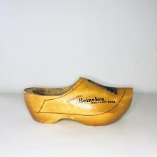 Vintage Heineken Wooden Shoe Handmade In Holland