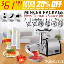 Mincer Meat Grinder Tomato Sauce Kit Package Flora Electric Stainless Steel