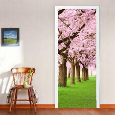 88cm Porta Murale Rosa Blossom Ufficio Arredamento della Casa Decorazione Autoadesivo Adesivi