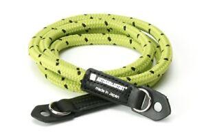 Artisan & Artist Pin Dot Cord Camera Strap. Luxury Yellow Rope ACAM 701 YGBK